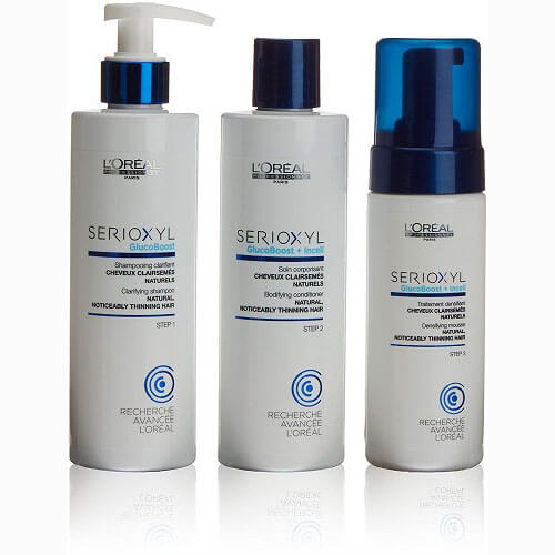 8f8e36655 L'Oréal Professional Serioxyl Enhancer Kit with Shampoo, Conditioner, and  Mousse